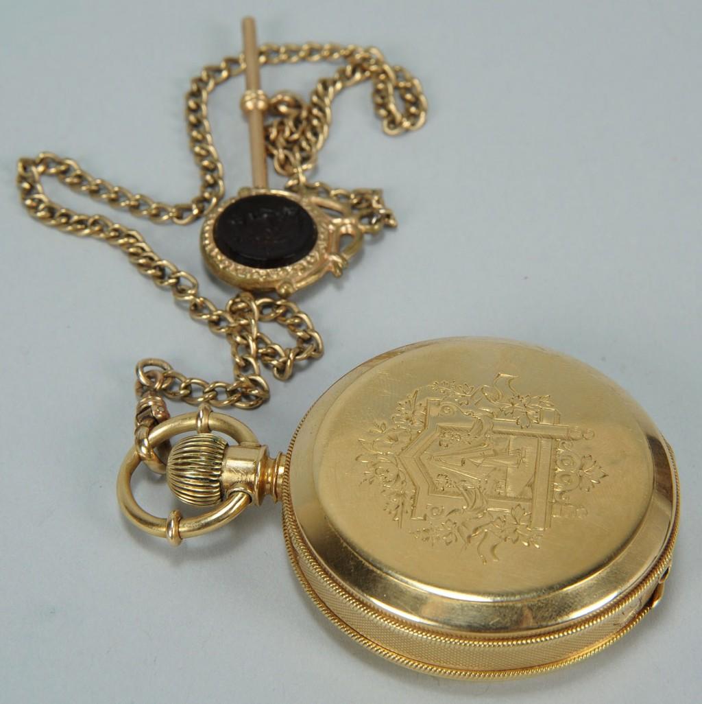 Lot 173: 14K Elgin Hunting Case Pocket Watch