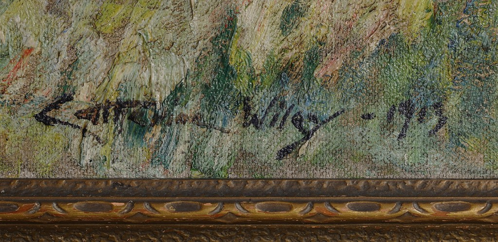 Lot 179: Impressionist Oil on Canvas by Anna Catherine Wiley