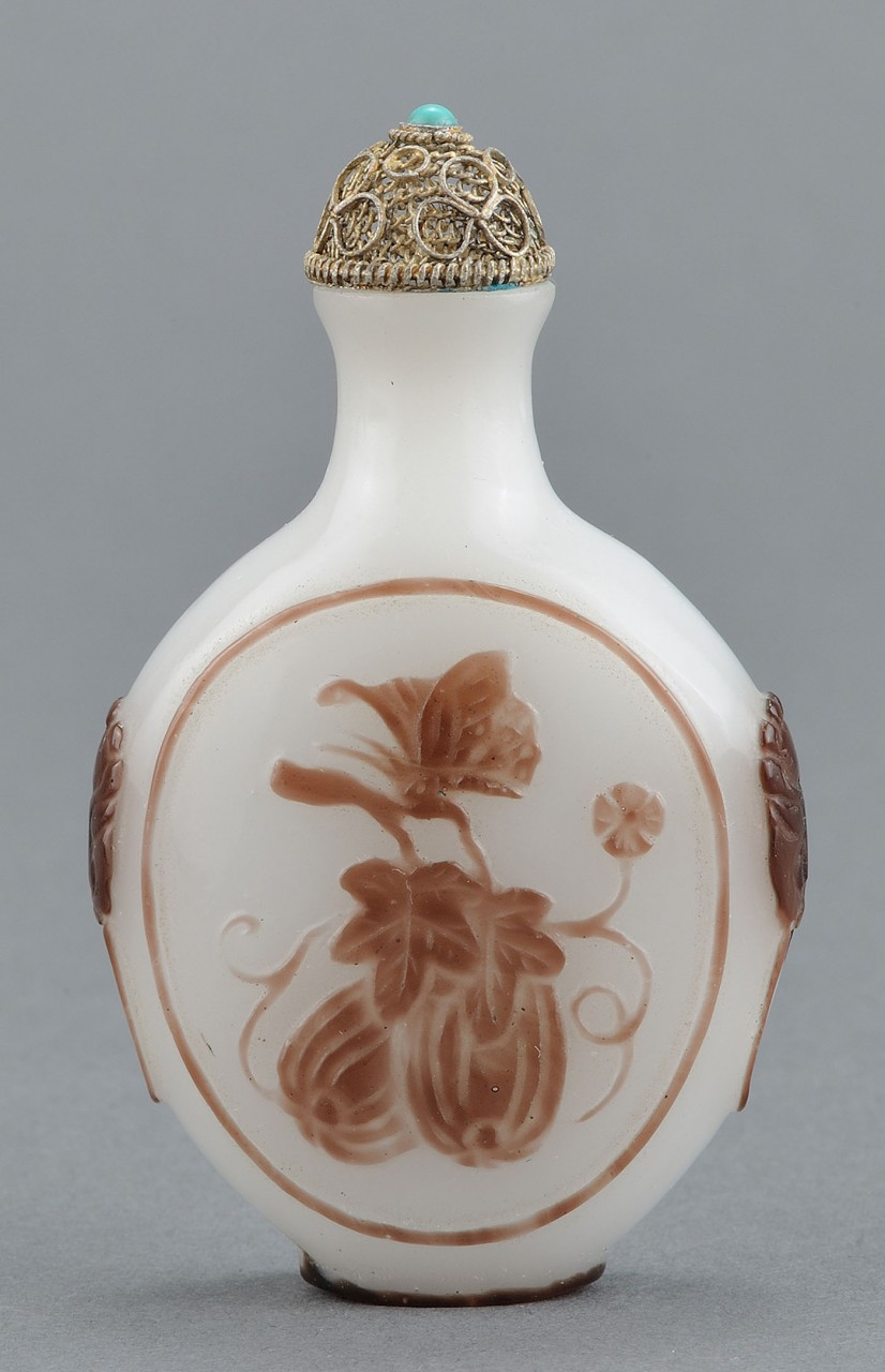 Lot 17: 2 Chinese Peking Glass Snuff Bottles