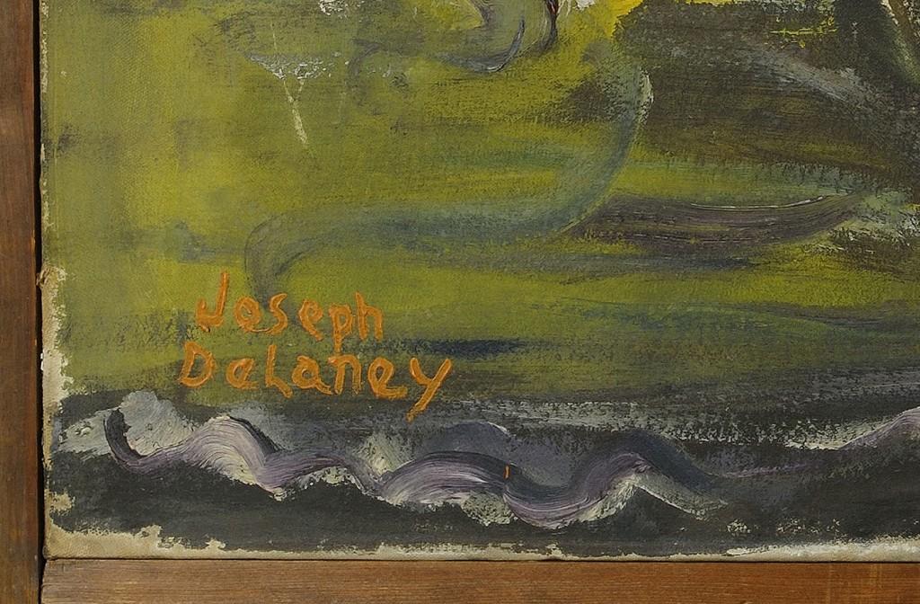Lot 182: Joseph Delaney OIl on Canvas of Female Nude