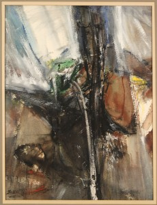 Lot 186: Carl Sublett Oil On Board, Abstract
