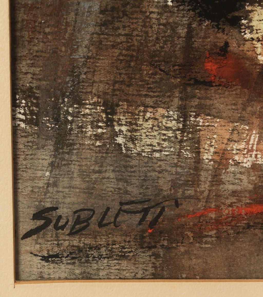 Lot 186: Carl Sublett Oil On Board, Abstract