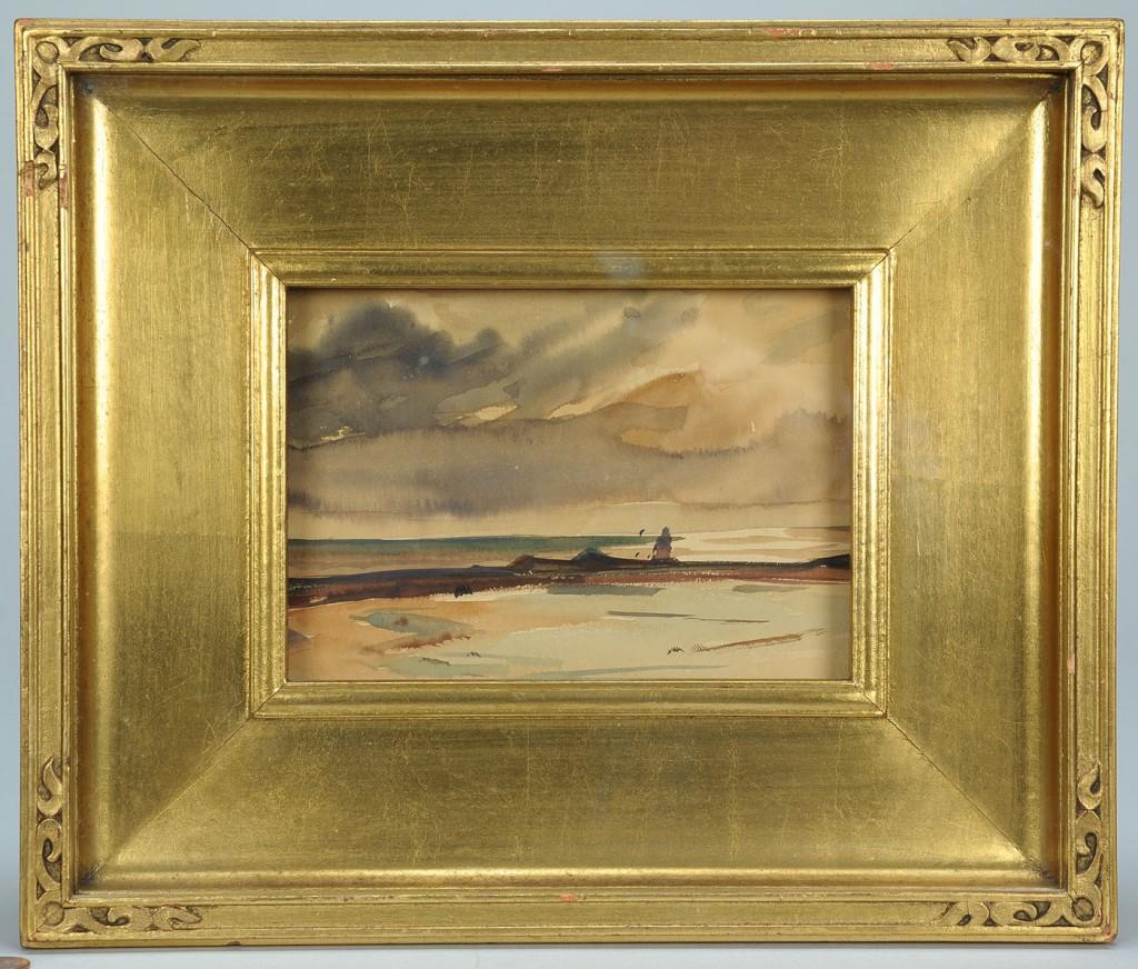Lot 187: Bertha Herbert Potter watercolor, coastal landscap