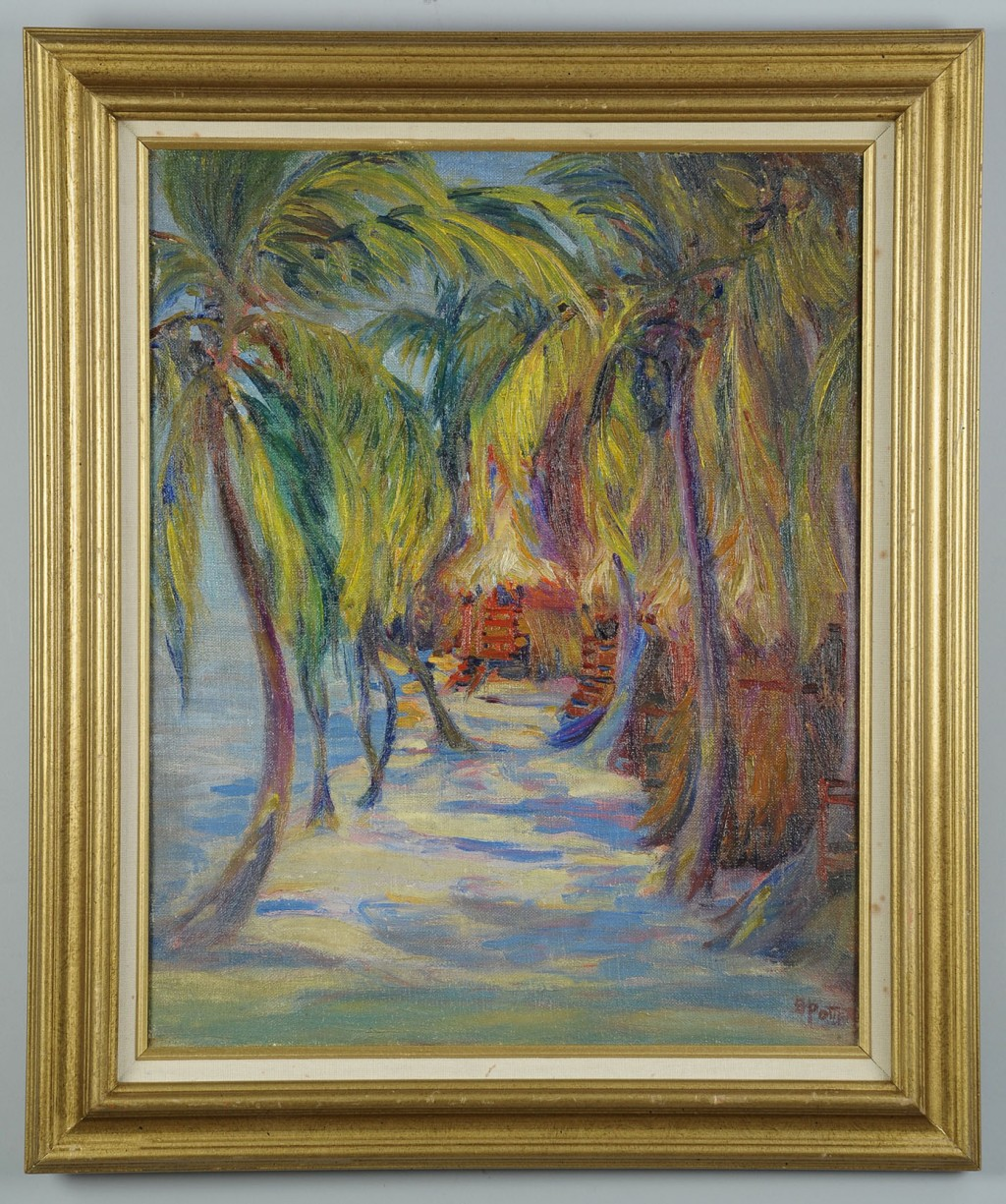 Lot 188: Bertha Herbert Potter oil painting, Cuban Landscap