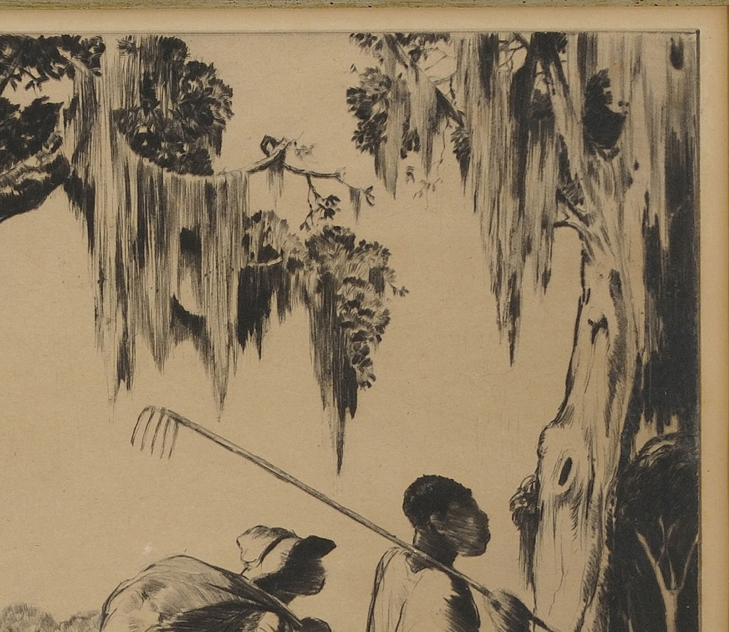 Lot 189: Alfred Hutty drypoint, Deep South