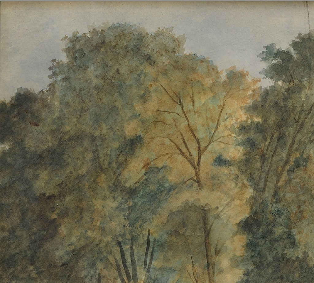 Lot 191: C. Fleischmann, Maryland plantation landscape