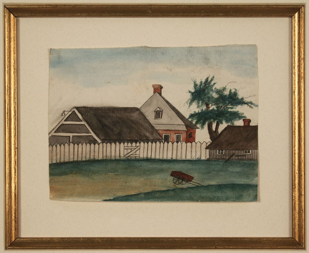 Lot 192: Two George W. Sully watercolors, Southern Landscap
