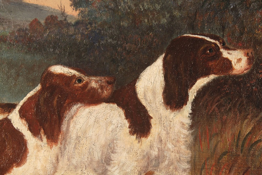Lot 193: Wilhelm Eilerts Landscape with Hunting Dogs