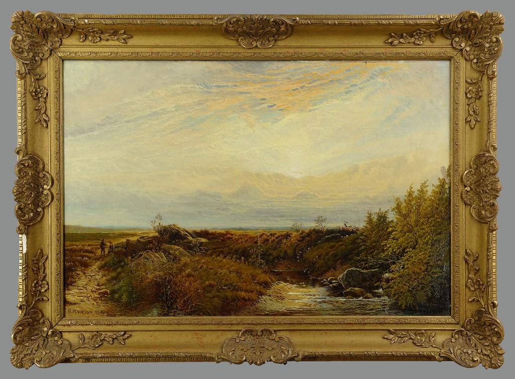 Lot 199: English sportsman landscape by R. Ellis Wilkinson