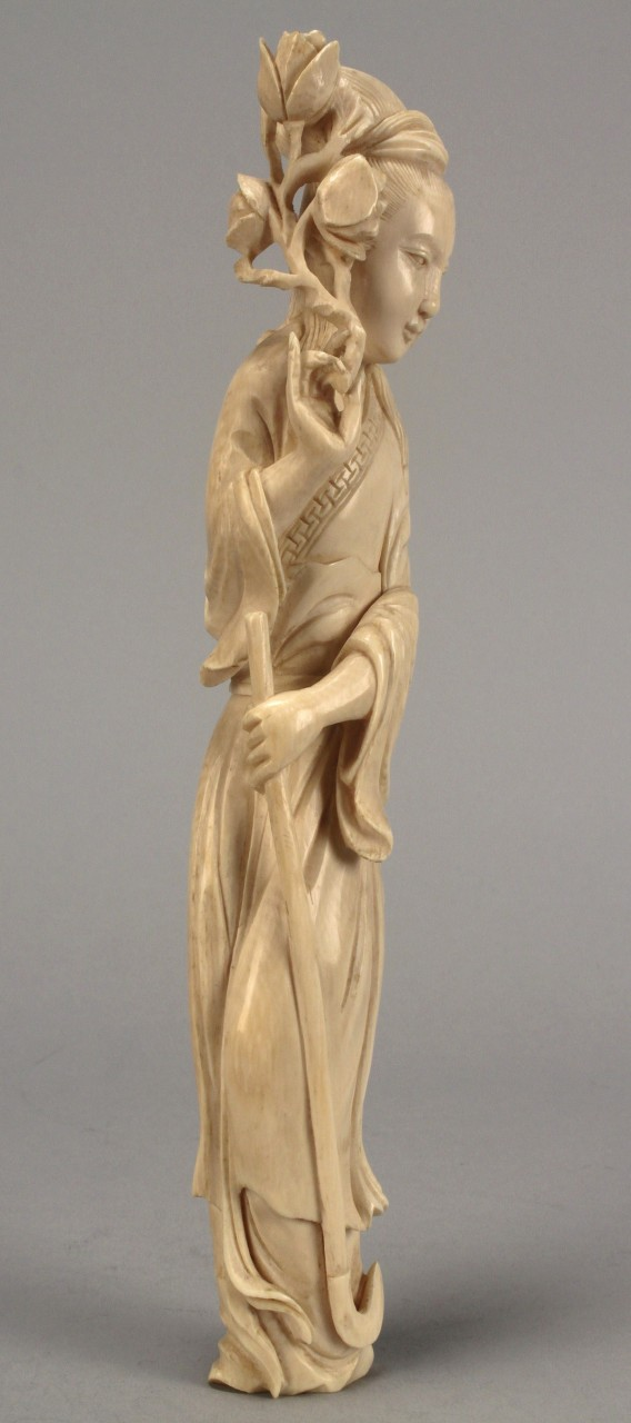 Lot 209: Chinese Carved Ivory Figure of Quan Yin