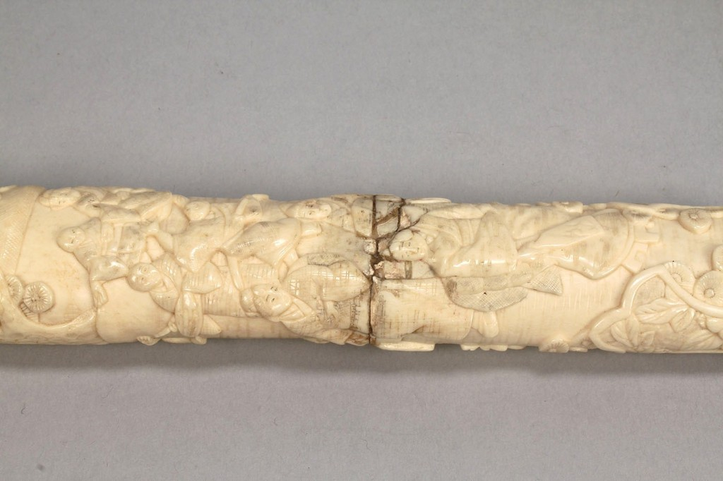 Lot 211: Japanese Ivory Dagger or Tanto