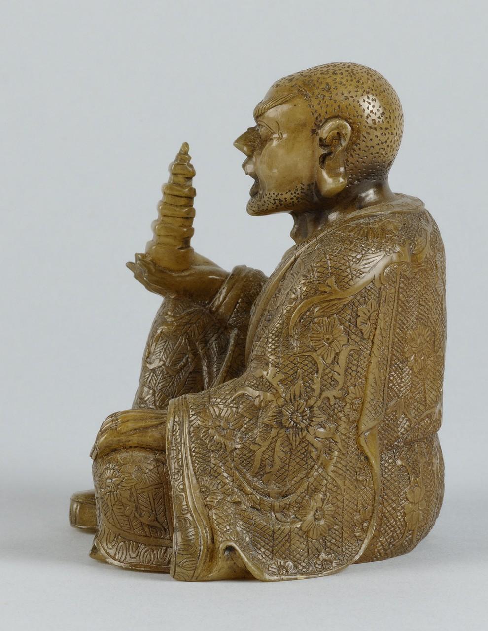 "Lot 218: Chinese Carved Shoushan Lohan ""Nandimitra"""