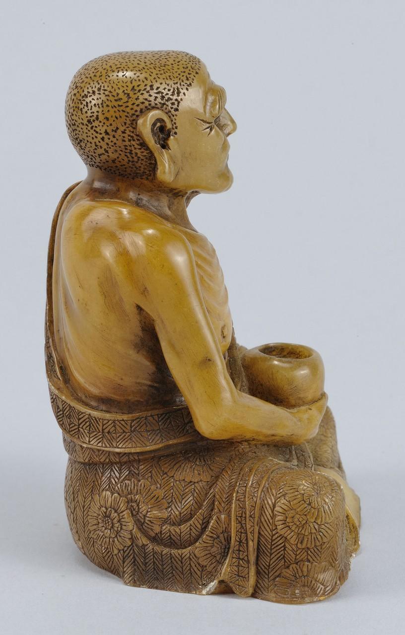 "Lot 219: Chinese Carved Shoushan Lohan ""Nakula"""