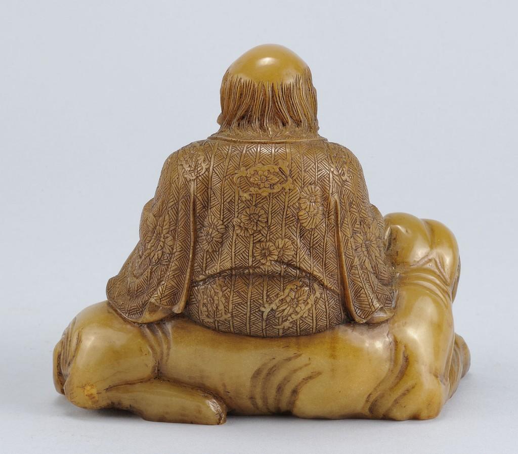 """Lot 221: Chinese Carved Shoushan Lohan """"Kalika"""""""