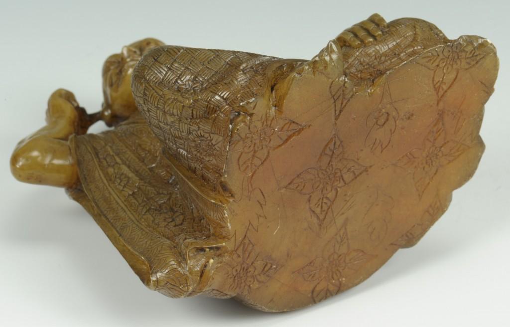 "Lot 225: Chinese Carved Shoushan Lohan ""Nagasena"""