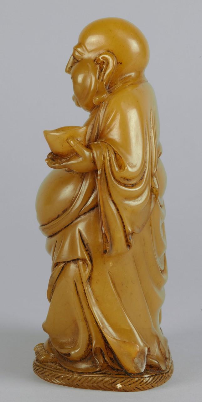 """Lot 226: Chinese Carved Shoushan Lohan """"Angida"""""""