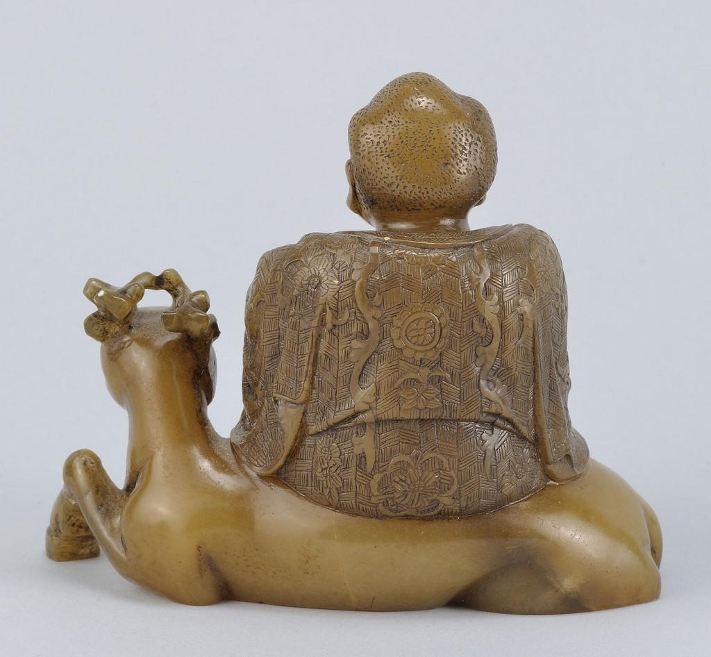 "Lot 228: Chinese Carved Shoushan Lohan ""Pindola the Bharadv"
