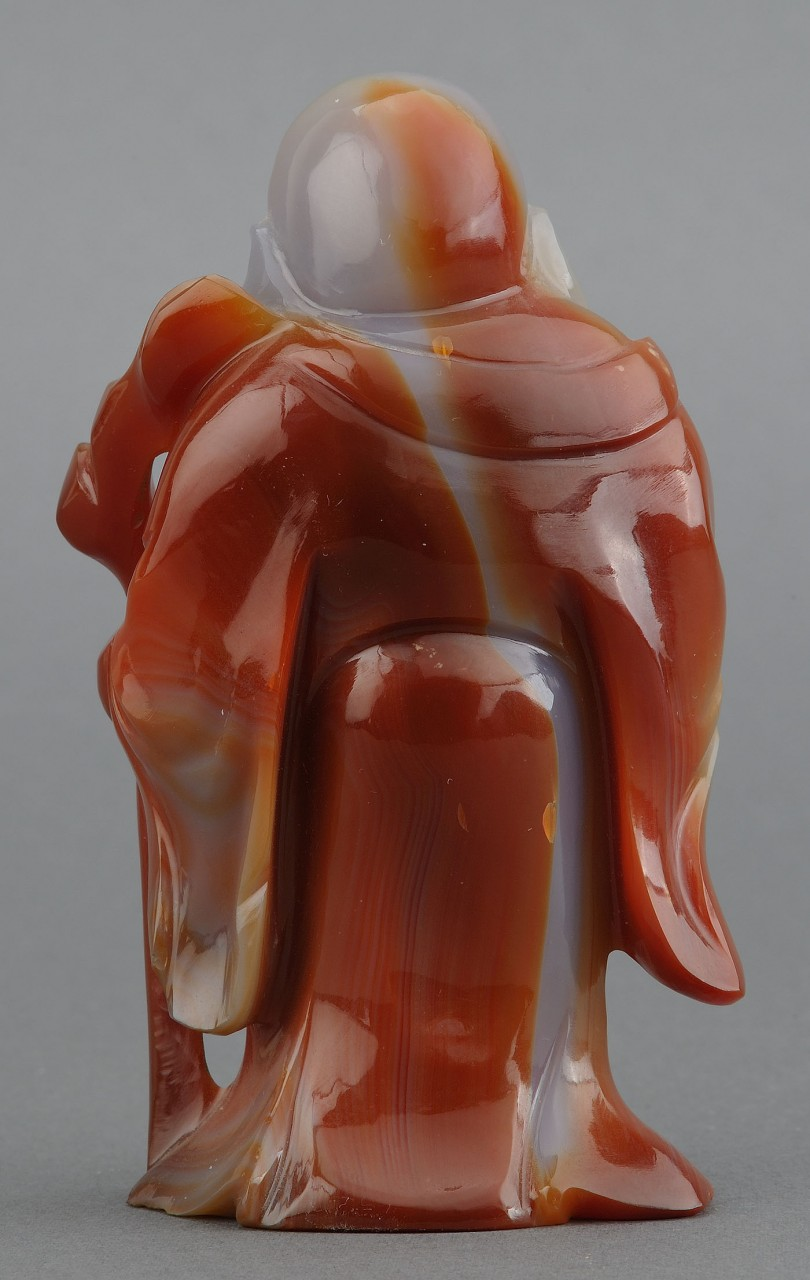 Lot 230: 2 Chinese Carved Agate Figures