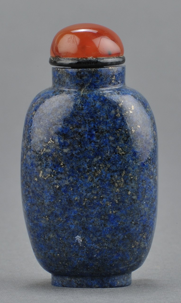 Lot 235: Chinese Carved Lapis Snuff Bottle