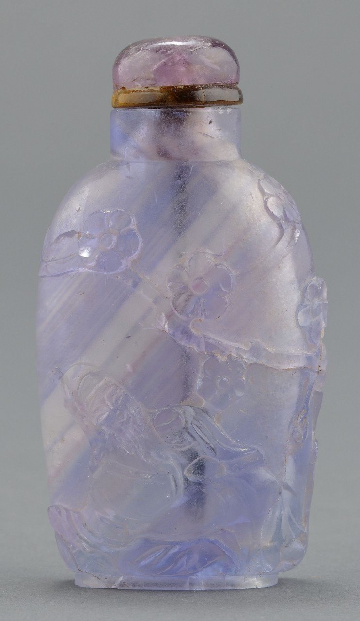 Lot 249: Chinese Carved Flourite Snuff Bottle