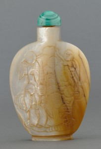 Lot 250: Chinese Mother of Pearl 1000 faces Snuff Bottle