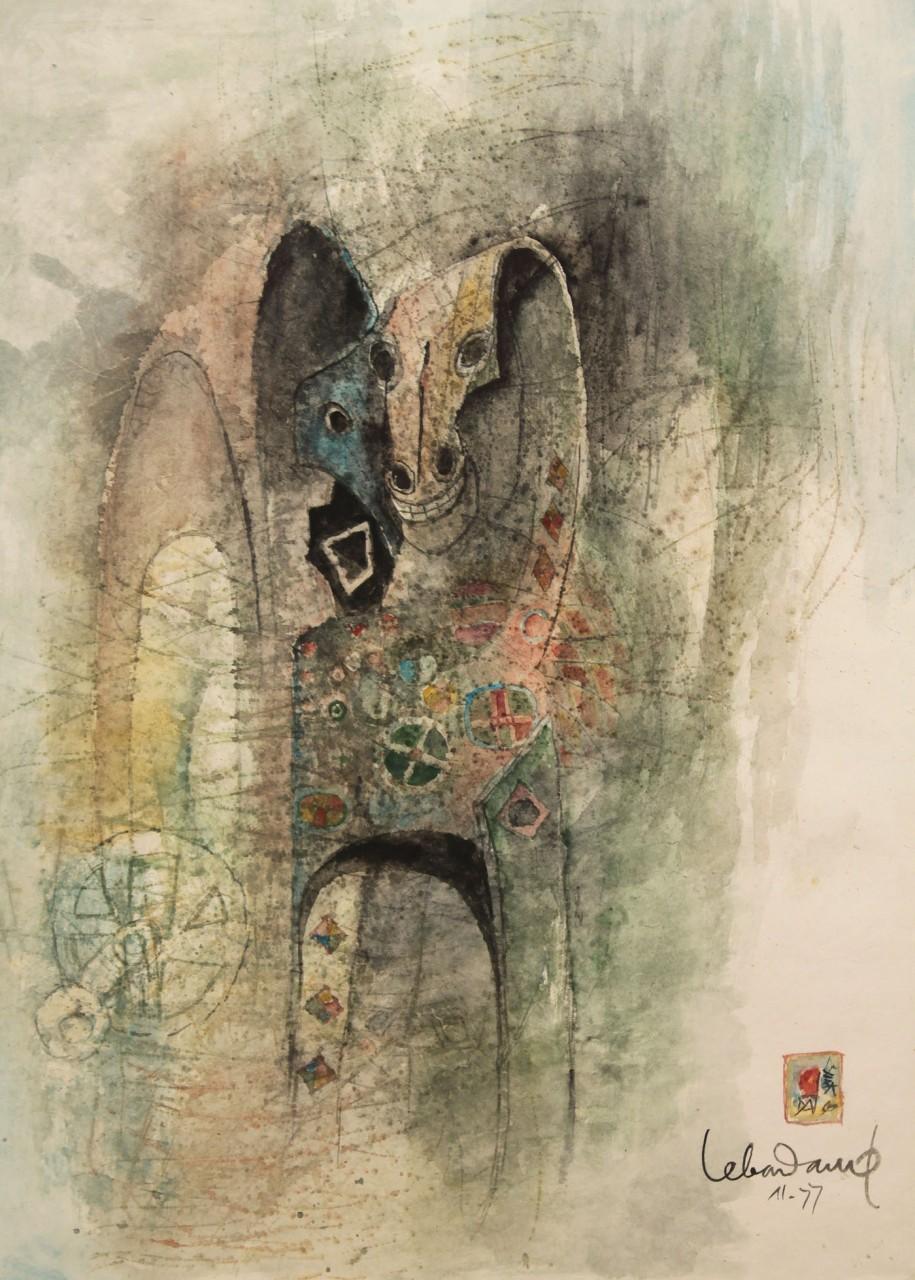"Lot 256: Le Ba Dang Watercolor, ""Magic Horse"""