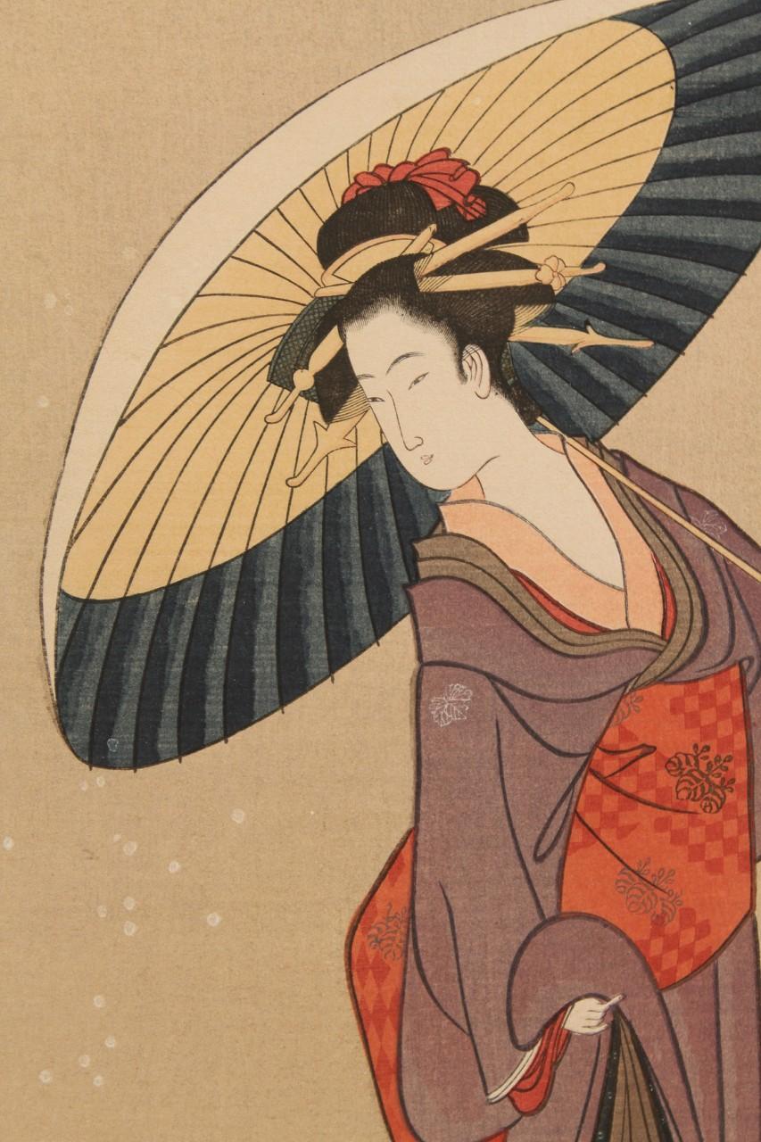 Lot 257: 2 Japanese Woodblocks incl.  Kunisada, mid 19th c.