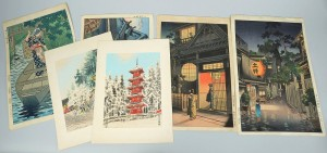 Lot 258: Group of 6 Japanese Colored Woodblock Prints