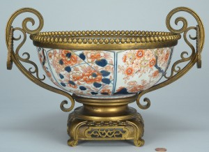 Lot 267: Bronze mounted Japanese Imari or Sampson bowl