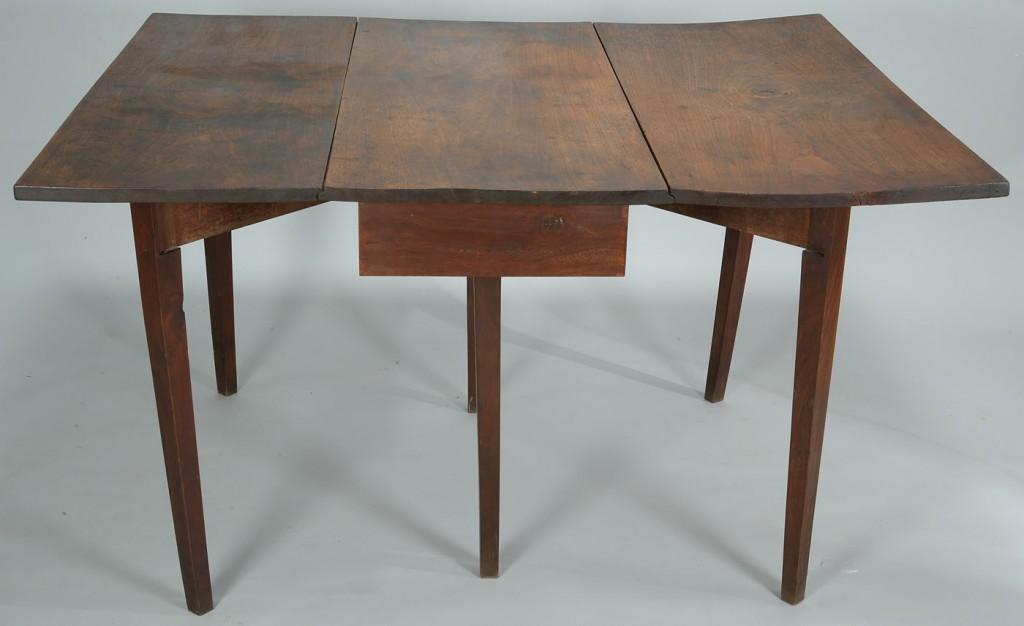 Lot 288: Rare East TN Hepplewhite Drop-leaf Walnut Table