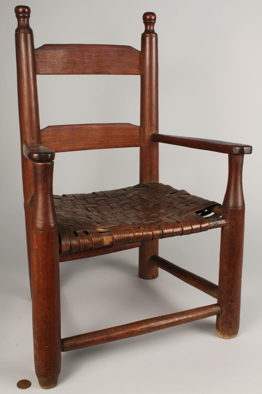 Lot 293: North Carolina Piedmont Child's Chair with button