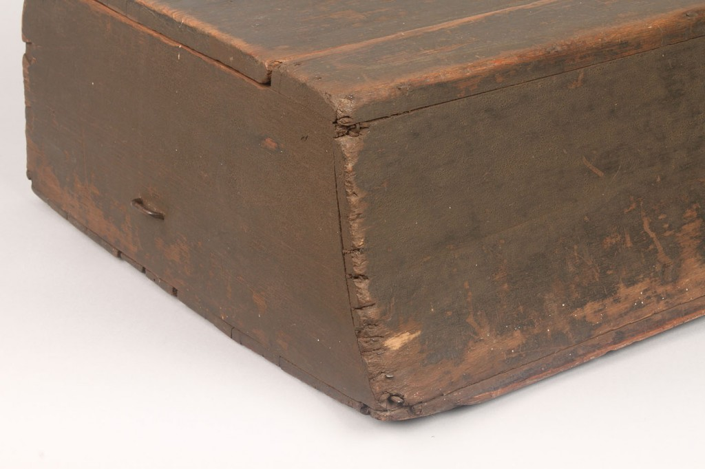 Lot 294: Painted Southern Carriage box, dovetailed