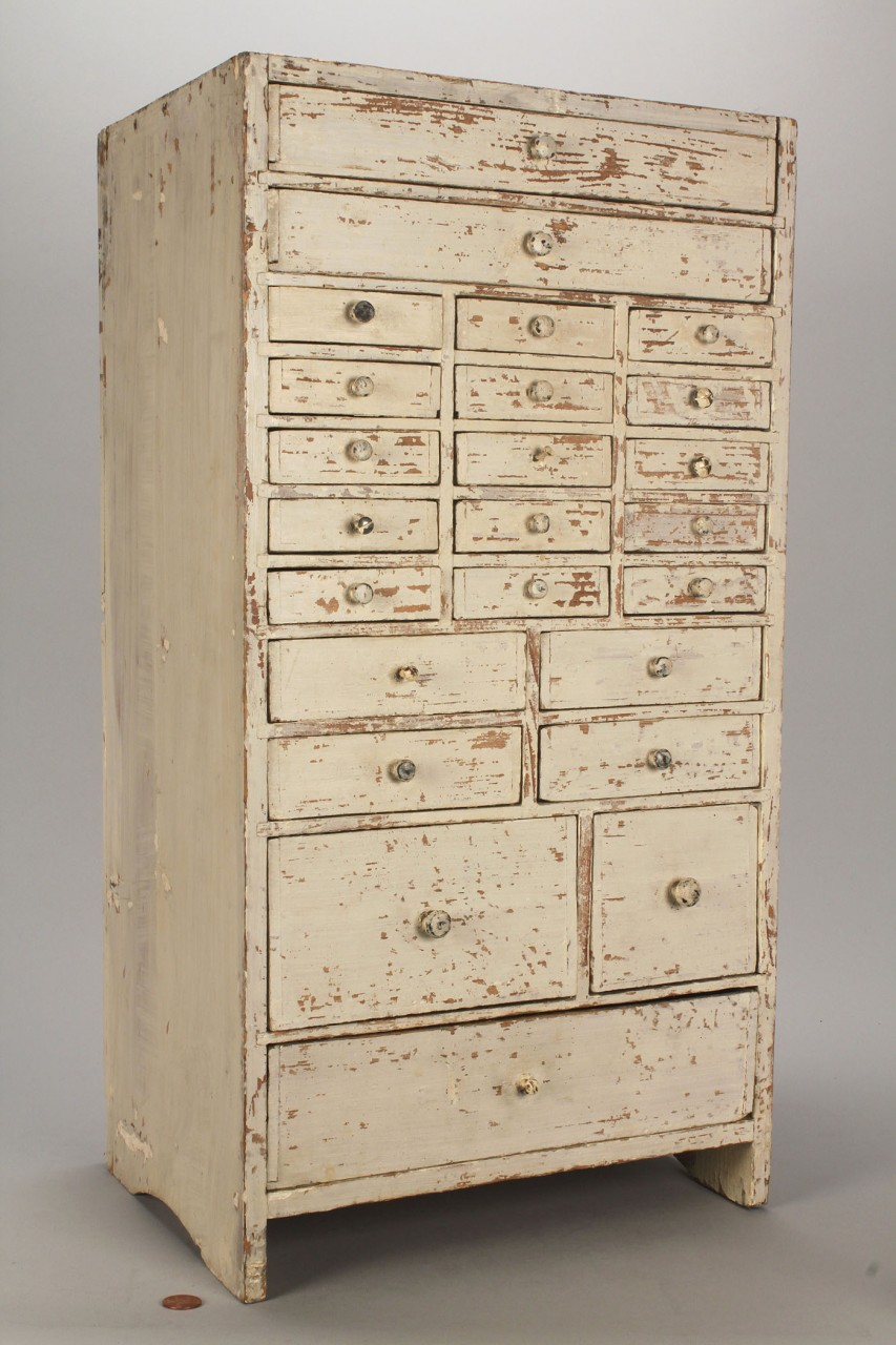 Lot 298: Painted apothecary chest