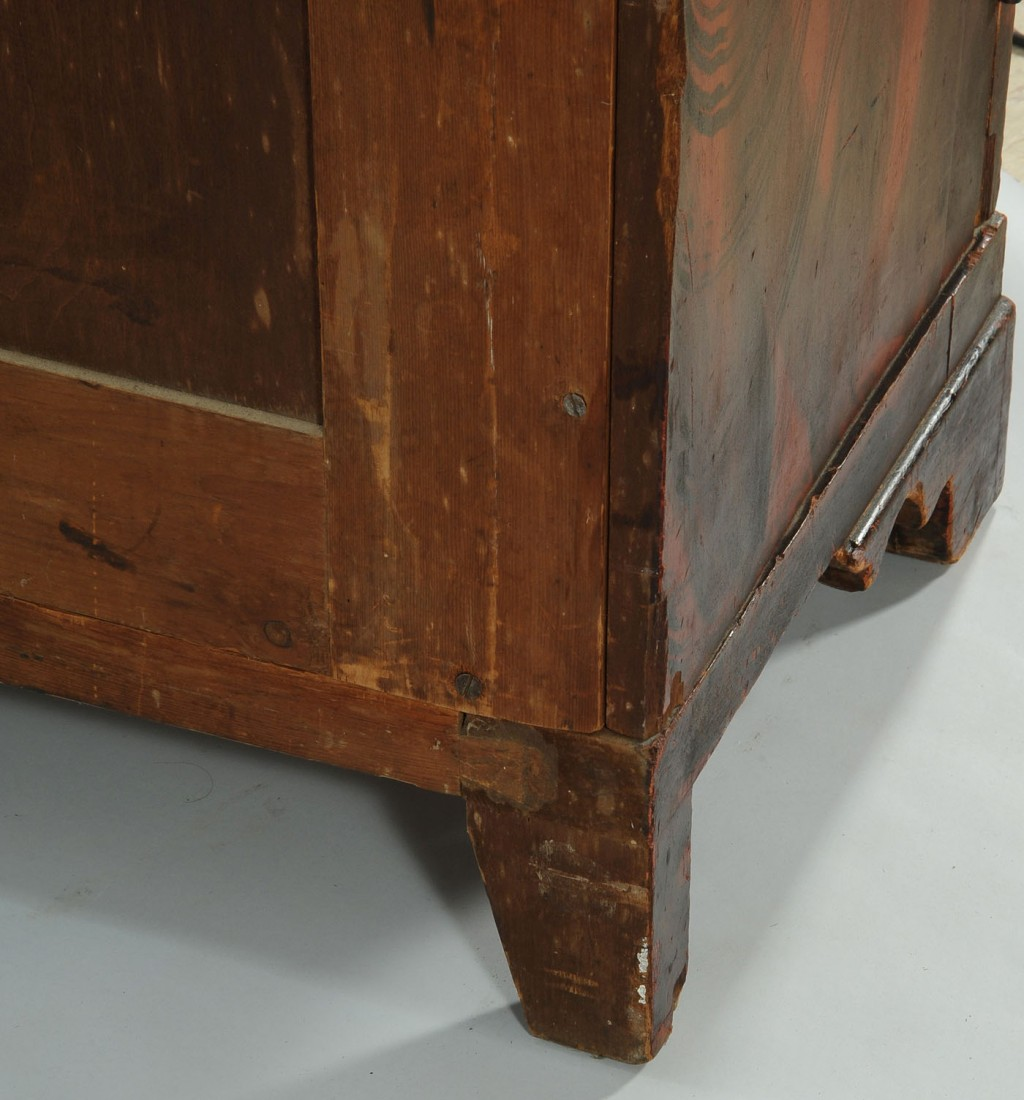 Lot 301: Grain painted wardrobe or Armoire, poss. Southern