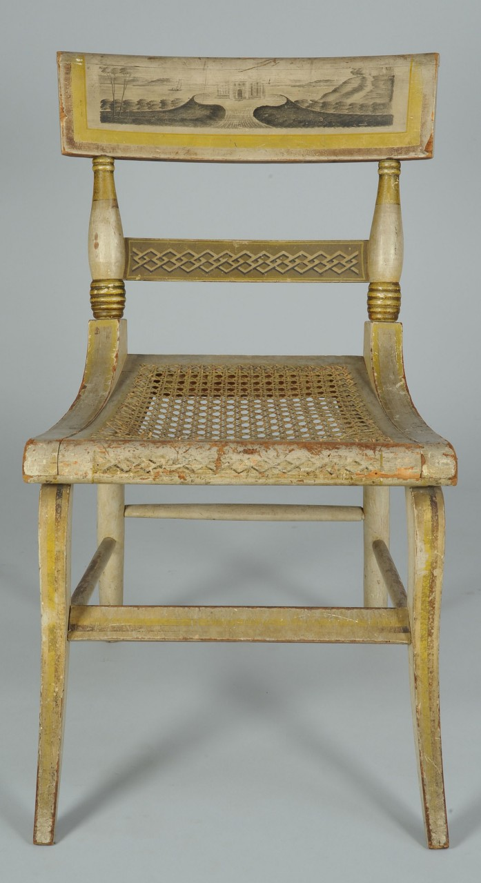 Lot 302 American Fancy Painted Chair With Landscape Scene
