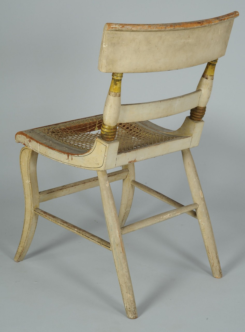 Lot 302: American Fancy Painted Chair with landscape scene