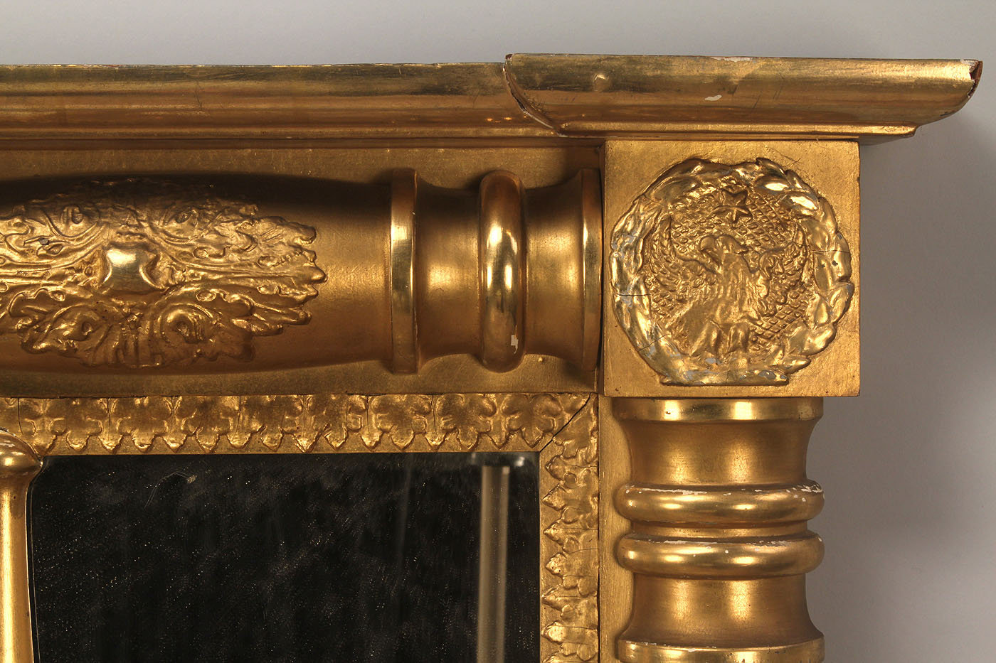 Lot 304 Gilt 3 Panel Over Mantle Mirror Dolly Madison