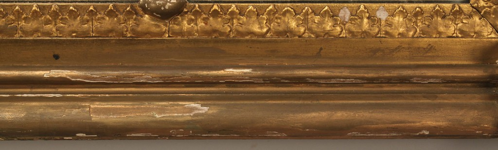 Lot 304: Gilt 3 Panel Over Mantle Mirror, Dolly Madison