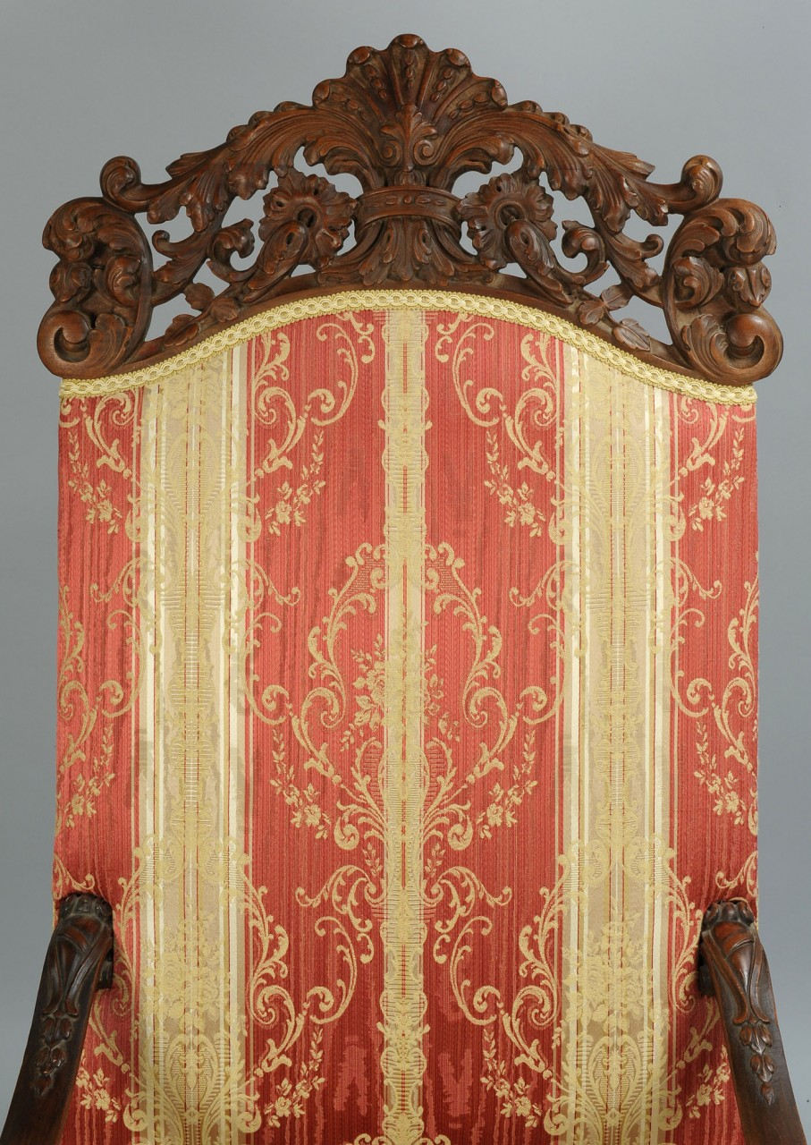 Lot 308: Continental Baroque style armchair
