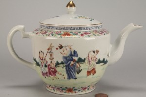 Lot 30: Chinese Famille Rose Teapot