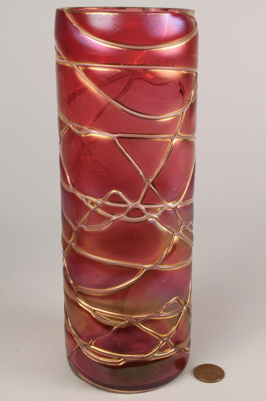 Lot 321: 2 Art Glass Vases, Loetz & Kralik