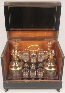 Lot 338: Tantalus or Portable Liqueur Cabinet, late 19th ce