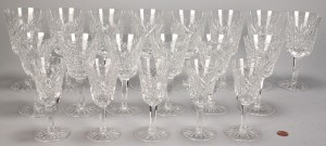 Lot 339: Waterford crystal stemware, Clare pattern, 19 pcs