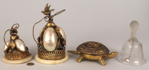 Lot 341: Collection of desk bells