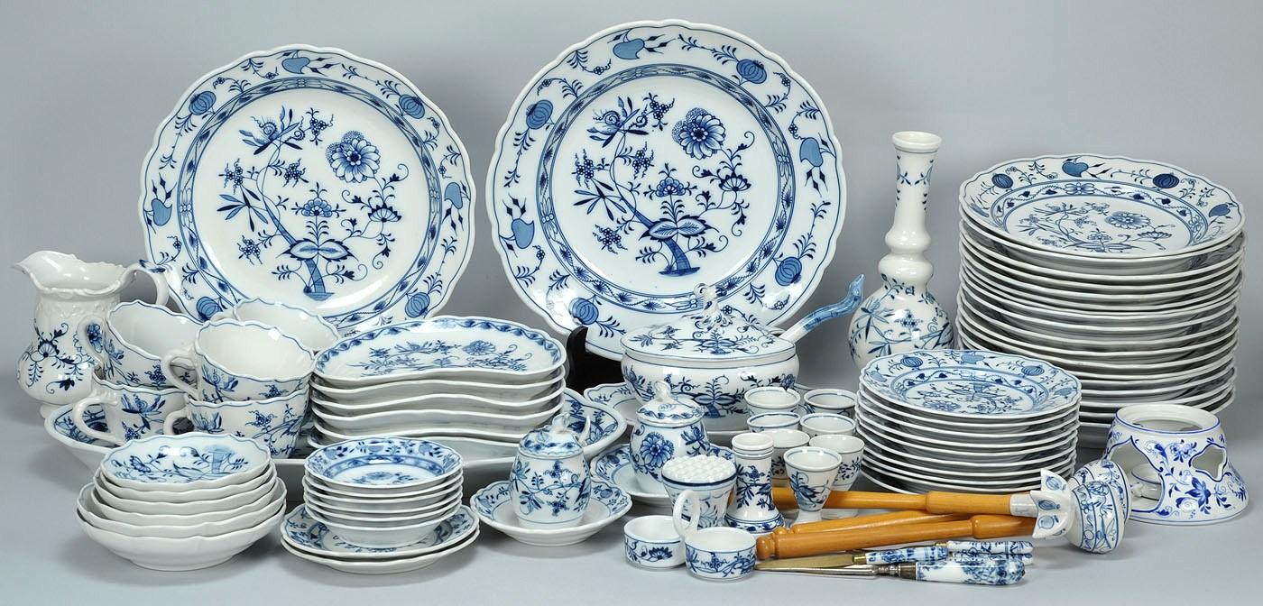 Lot 345 83 Pcs German Porcelain Mostly Meissen Oval Mark