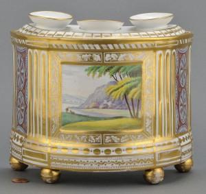 Lot 349: Porcelain bough pot, attr. Derby