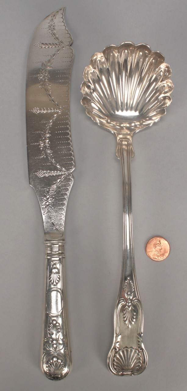 Lot 378: Bailey Sterling Ladle & Cake Knife
