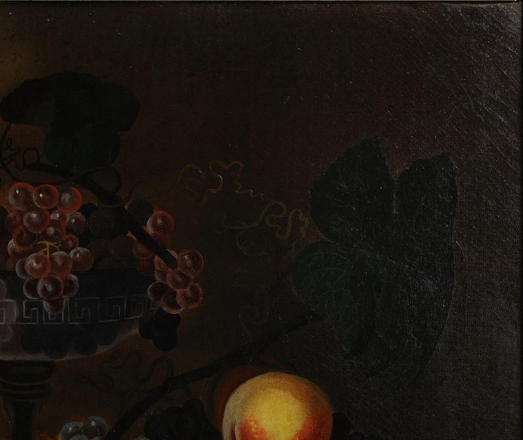 Lot 37: Folk Art Still life w/ raspberries, poss. Southern