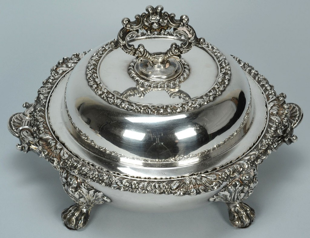 Lot 381: Old Sheffield Plate entree dish by Stammers