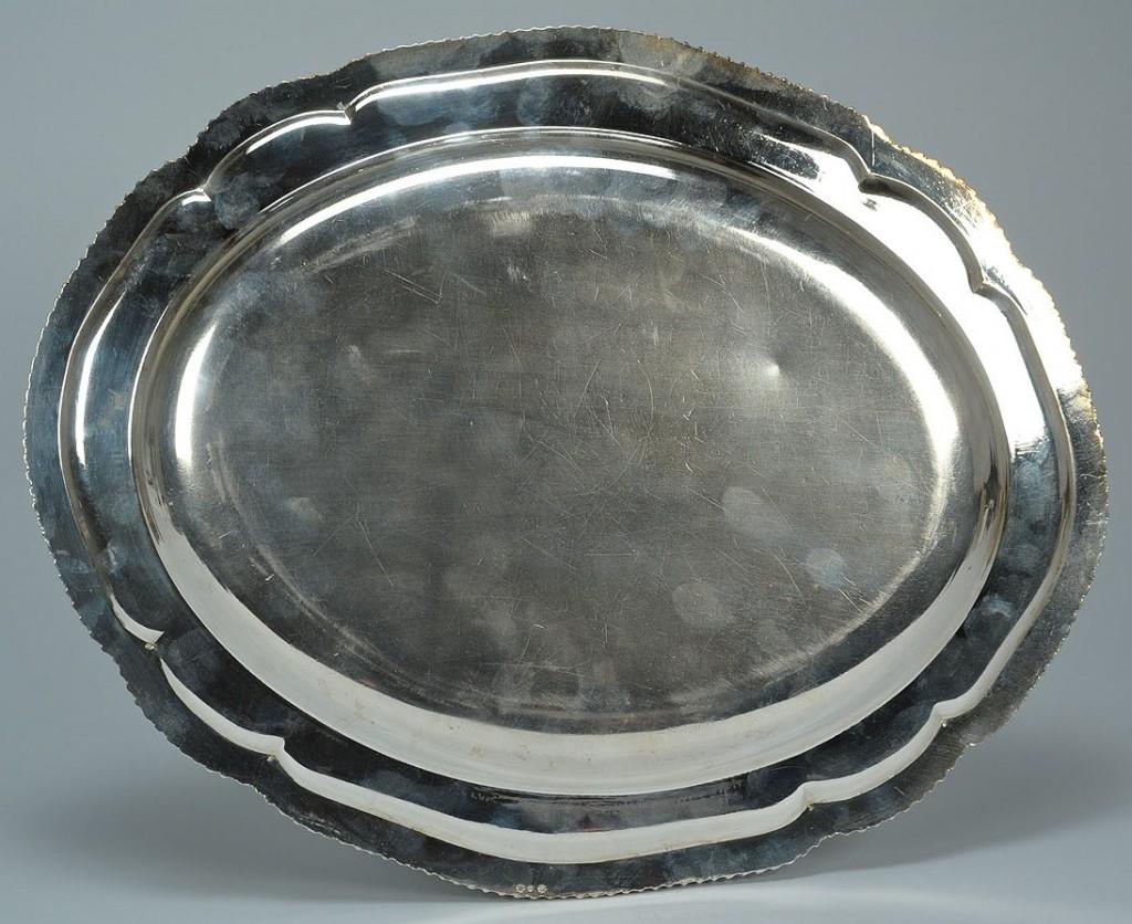 Lot 385: Matthew Boulton Old Sheffield Platter or Tray